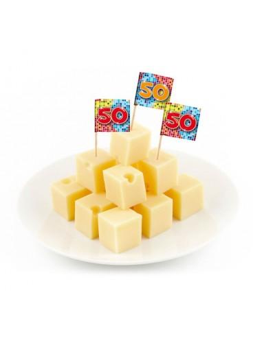 Mini Banderas 50 Cumpleaños, 24 uds. AGOTADO.