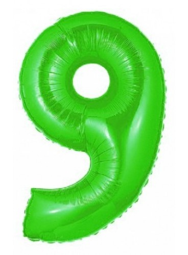 "Globo ""9"" Verde, 100 cm."