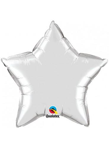 Globo Estrella Plateada, 46 cm.