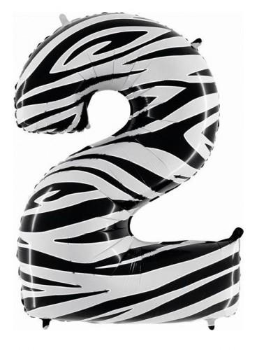 """Globo """"2"""" Cebra, 100 cm."""
