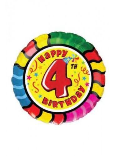 "Globo ""Happy Birthday"" Nº 4, 46 cm."