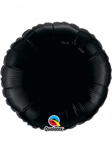 Globo Círculo Negro, 46 cm.
