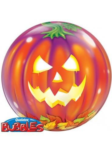 Globo Burbuja Calabaza Halloween, 56 cm.