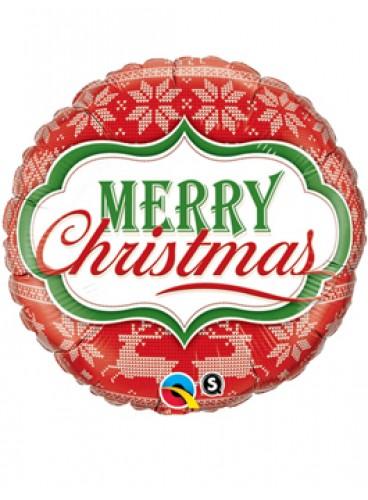 Globo Merry Christmas Nordic, 46 cm.