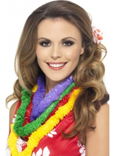 Kit 6 Collares Hawaianos PVC Colores