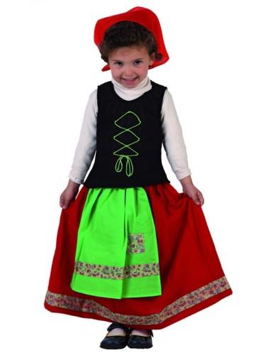 Disfraz Pastora Verde Baby