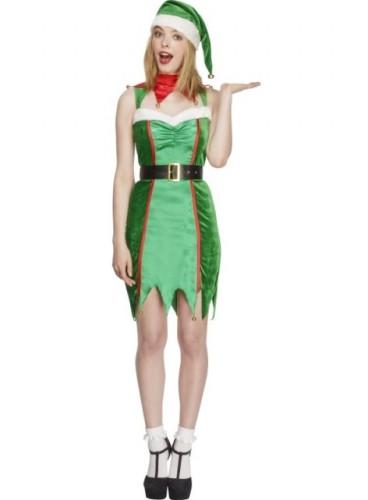 Disfraz Elfa Verde Fever