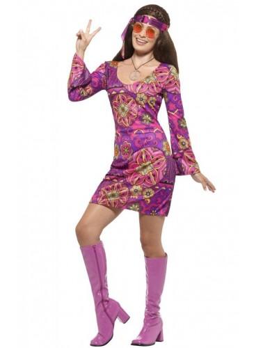Disfraz Hippie Chic + Colgante