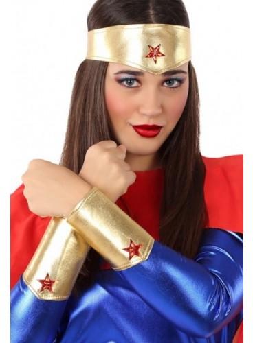 Kit Superheroína: Bandana + Manguitos