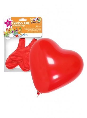 Globos Corazones Rojos XXL, 2 uds.
