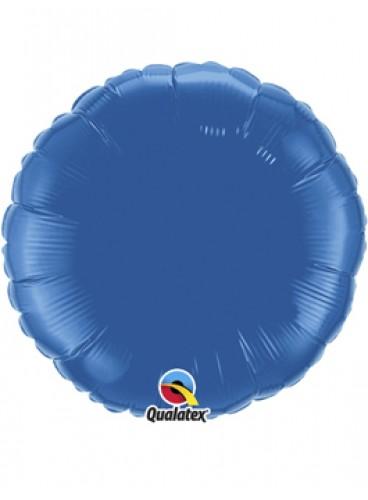 Globo Círculo Azul Marino, 46 cm.