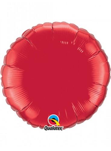Globo Círculo Rojo, 46 cm.