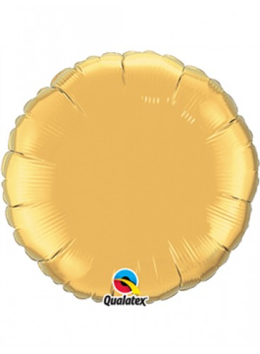 Globo Círculo Dorado, 46 cm.