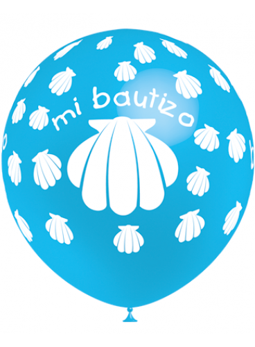 Globos Bautizo Azul Celeste Pro-Quality, 8 uds. (100 cm.)
