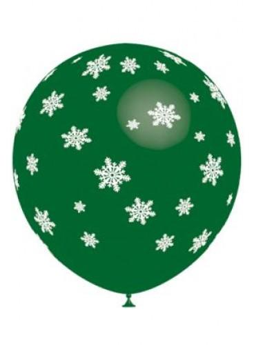 Globos Navidad Verdes (8 uds.), 100 cm.