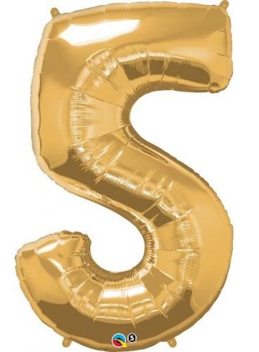 """Globo """"5"""" Oro, 100 cm."""