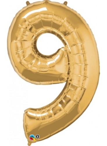 """Globo """"9"""" Oro, 102 cm."""