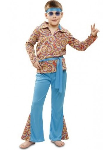 Disfraz Hippie Azul