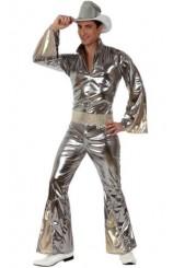 Disfraz Hombre Disco Plata