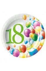 """Platos """"18"""", 23 cm. (8 uds.)"""
