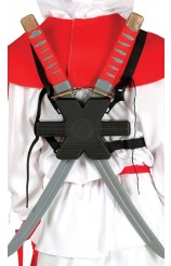 Kit Espalda 2 Espadas Ninjas, 55 cm.