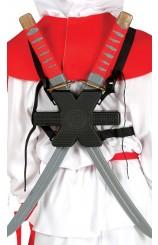 Kit Espalda 2 Espadas Ninjas, 55 cm. AGOTADO.