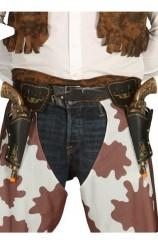 Cartucheras Dobles Cowboy + Pistolas 28 cm.