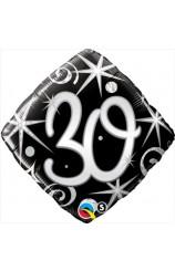 """Globo """"30"""" Ellegance Negro, 46 cm."""
