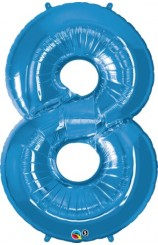 """Globo """"8"""" Azul, 100 cm."""