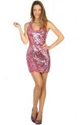 Disfraz Chica Disco Brillo Rosa