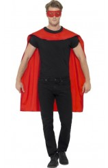 Kit Superhéroe Rojo: Capa + Antifaz