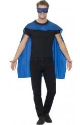 Kit Superhéroe Azul: Capa + Antifaz