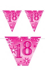 "Banderines ""18"" Rosas, 360 cm."