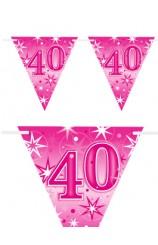 "Banderines ""40"" Rosas, 360 cm."