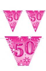 "Banderines ""50"" Rosas, 360 cm."