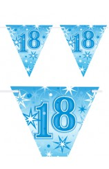 "Banderines ""18"" Azules, 360 cm."
