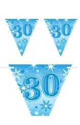 "Banderines ""30"" Azules, 360 cm."