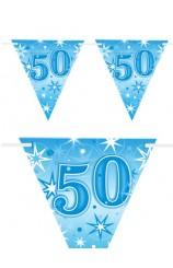 "Banderines ""50"" Azules, 360 cm."
