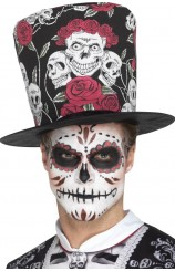 Chistera Negra Calaveras & Rosas (Day of the Dead)