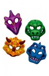 Set 4 Caretas Dinosaurios
