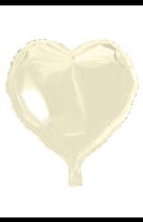 Globo Corazón Marfil, 46 cm.