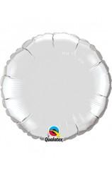 Globo Círculo Plateado, 46 cm