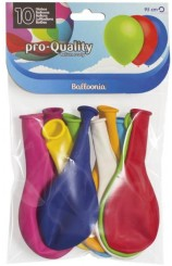 Globos Colores Surtidos 95 cm. Pro-Quality, 10 uds.