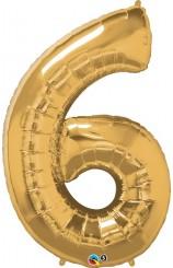 """Globo """"6"""" Oro, 100 cm."""