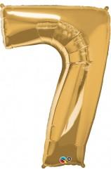 """Globo """"7"""" Oro, 86 cm."""