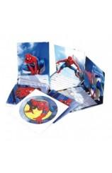 Invitaciones Spiderman, 6 uds.