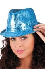 Sombrero Lentejuelas Azul Celeste