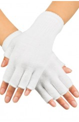 Guantes Blancos sin Dedos