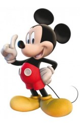 Set 2 Figuras Mickey Mouse, 30 cm.