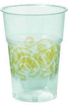 Vasos Cristal Oro (Plástico), 10 uds.